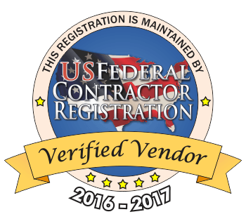 The seal confirming that this is a US Federal Contractor Verified Vendor.